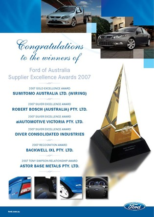 DCI wins silver at the Ford Australia, Supplier Excellence Awards! 1